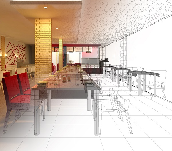 Interior design section