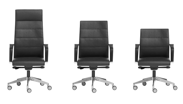 Seven line office chairs